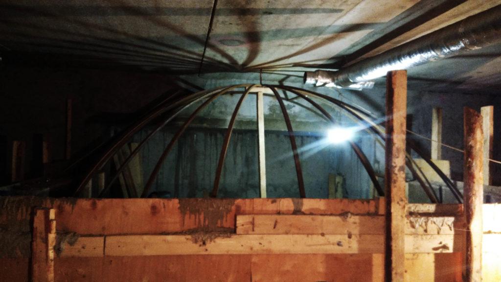 Изготовление опалубки купольного свода