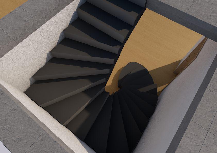 бетонная лестница в дом